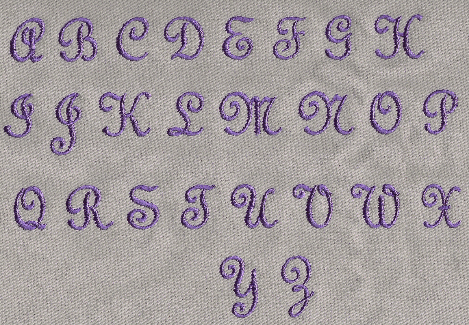 Inch Sew On Letters